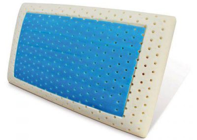 Cuscino in memory foam gel traspirante - vista laterale