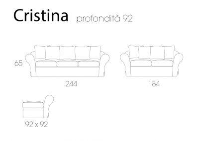 Schema tecnico modello Cristina