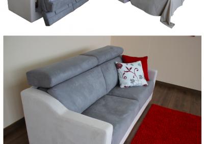 SILVER-Divano letto con poggiatesta reclinabile a cricchetto